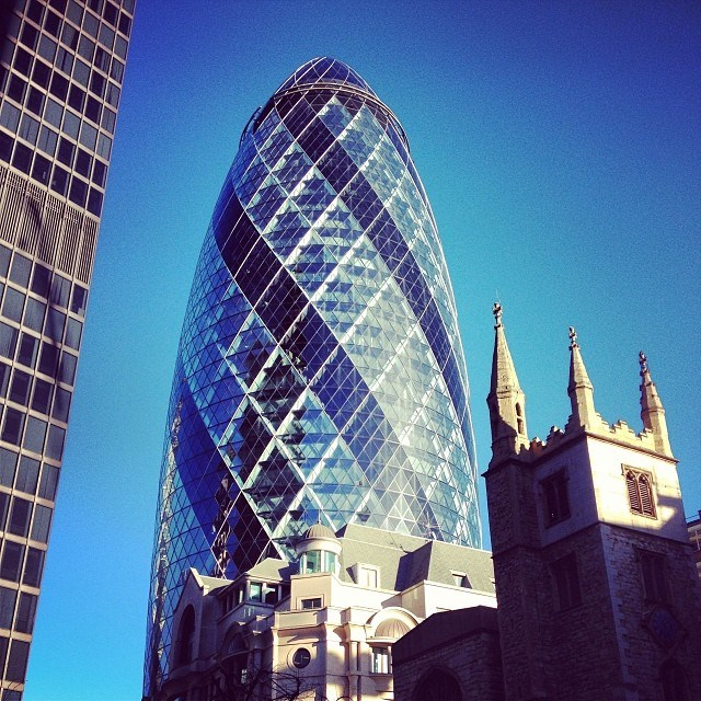 I've been fascinated with this building ever since my first visit to London. The Gherkin (as it's fondly known) is such a glorious structure. I got to the base and toured the art installations that were placed around this area for the 2013-2014 year.