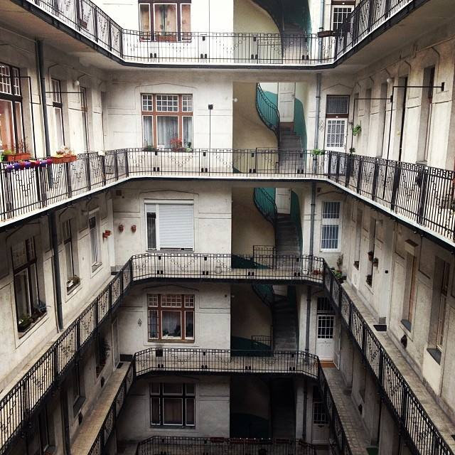 This was one of the interior courtyards of a building in Budapest. It looked perfectly ordinary from the outside, but once we went inside to visit one of the agencies we were greeted with this view. The only downside I can think is having to carry groceries up several flights of stairs. I would live here in a heartbeat.