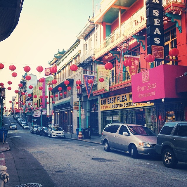 Chinatown in San Francisco. I wandered down the streets before most places were open and it was nice to walk down the streets without very many other people. The emptiness was strangely soothing.